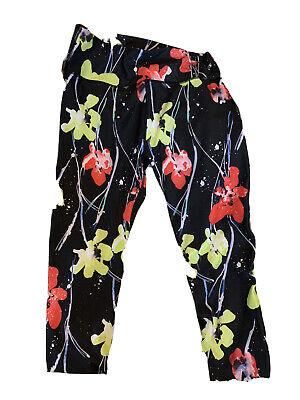 Fabletics Lissette High Waisted Legging Black Floral Demi Lovato XL