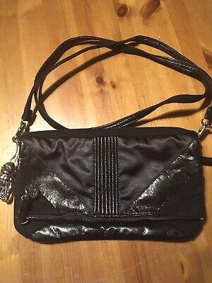 Kipling Suede 'New Arlene' Small Shoulder Or Clutch Bag. Wristlet Ex Cond Black