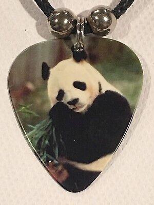 PANDA Guitar Pick Necklace Wild Jungle Animal Big Bear (A)