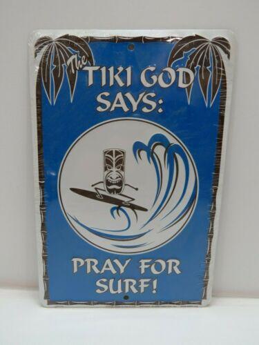 """Tiki God"" Aluminum Metal Sign 8 x 12 inch - (B4C271)"