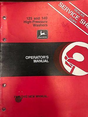 John Deere Operators Manual 125 140 High Pressure Washer Omty20783 H5 Used