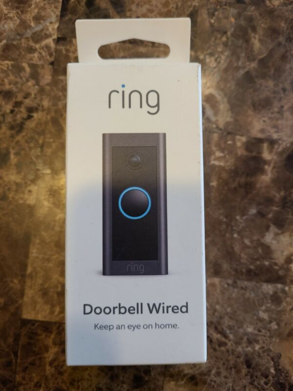 Ring Wi-Fi Video Doorbell Wired Black B08CKHPP52 NEW