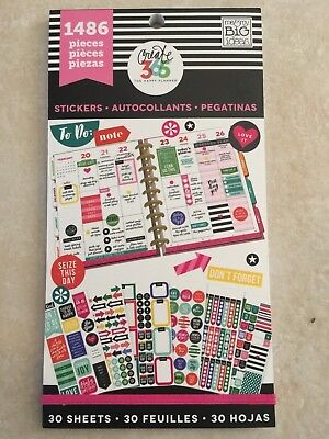 Create 365 The Happy Planner Everyday Plans Value Pack Stickers 1486 New