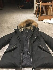 New Men's Mackage down winter parka with fur.