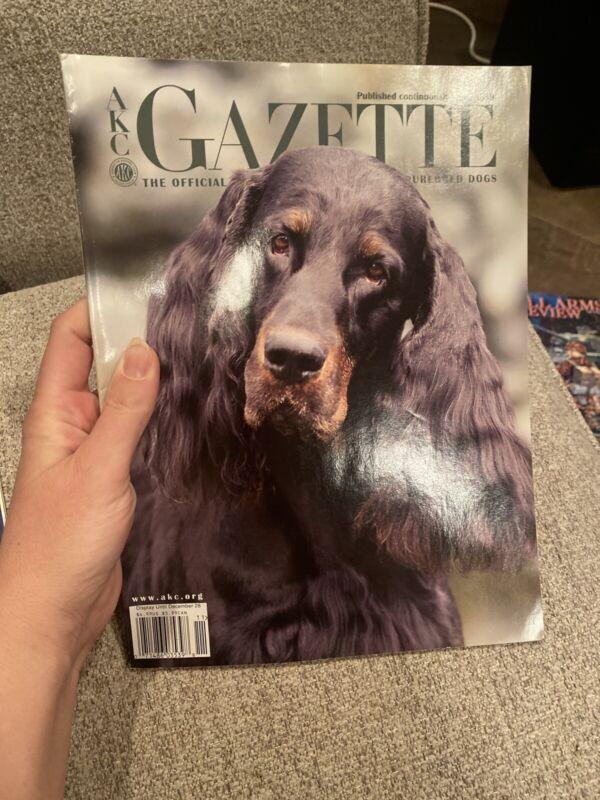 AKC Gazette Magazine Gordon Setter Cover + Articles Nov. 2005