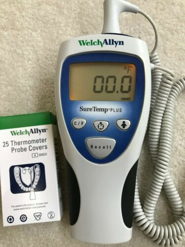 Welch Allyn SureTemp Plus 692 Digital Thermometer with Oral Probe  & Covers