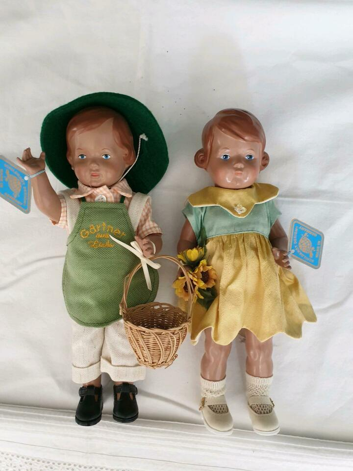 210274FS Schildkröt Puppen Pärchen Gärtner mit Frau TOP Zustand in Augsburg