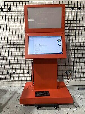 Free Standing 32 Touchscreen Retail Restaurant Kiosk Hp Compaq Computer Incl.