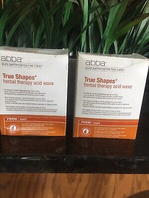 Set 2 abba True Shapes Herbal Therapy Acid Wave Perm  Normal Tinted Highlighted