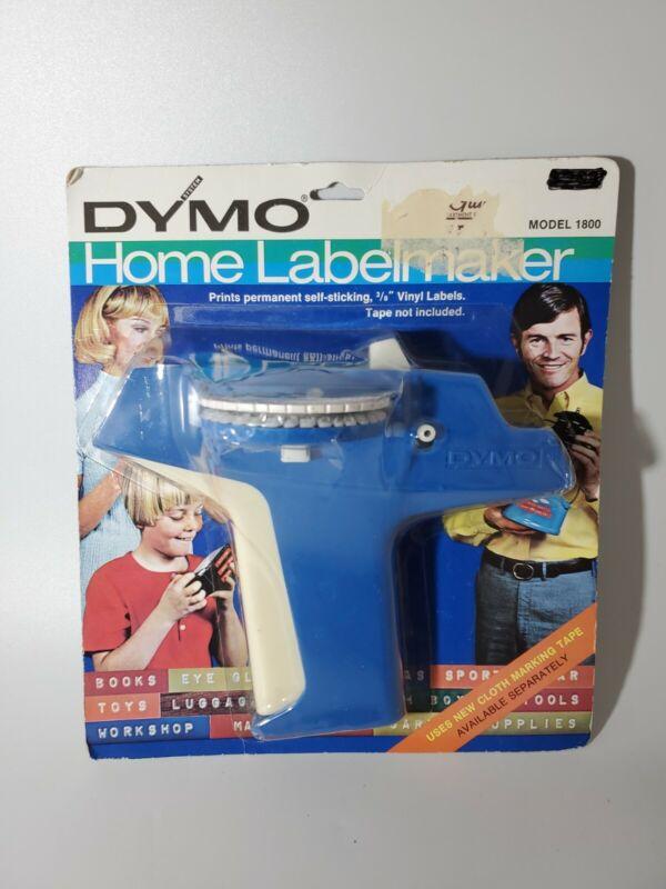 1972 Vintage DYMO Home Label Maker BLUE NEW OLD STOCK ITEM