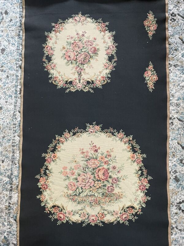 Antique French Fabric Tapestry Style Seat Cover