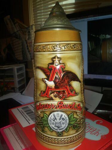 Budweiser Anheuser Busch Stein B Series #74778 Fermentation Ceramarte Beer Stein
