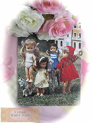 "Vintage Dolls Clothes Knitting Pattern, Complete Wardrobe For Dolls From 10-16""."
