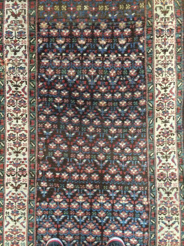 Tremendous Tribal - 1900s Antique Kurdish Runner - Oriental Rug - 3.2 X 13.4 Ft