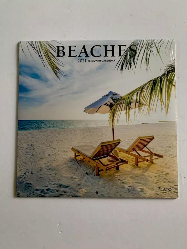 Beaches Wall Calendar 2021 16 Month Brand New/Sealed