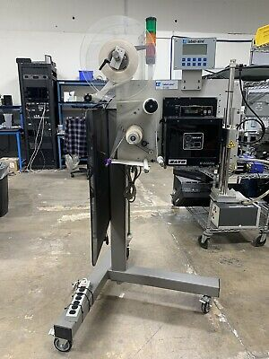 Label-aire Model 3138-nv Label Printer Applicator W Sato M-8490se Print Engine