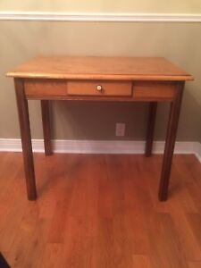 Antique Desk / Table - with Drawer - Pine