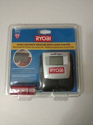 Ryobi Sonic Distance Tape Measure With Laser Pointer Model E49st01