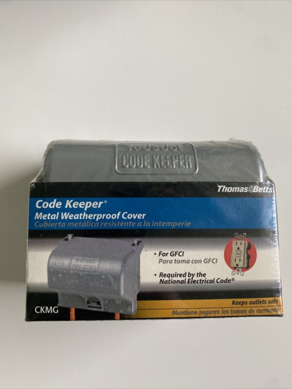 Thomas Betts Code Keeper Metal Weatherproof Outdoor Outlet Cover For GFCI - New