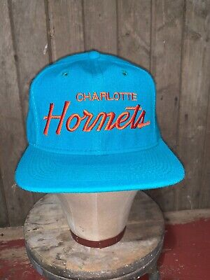 VINTAGE 80s Charlotte Hornets NBA Sports Specialties WOOL Hat Snapback Youngan