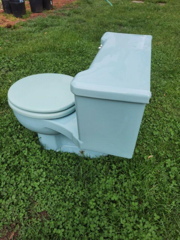 1966 Kohler Placid Toilet K-3405 (Light Blue)
