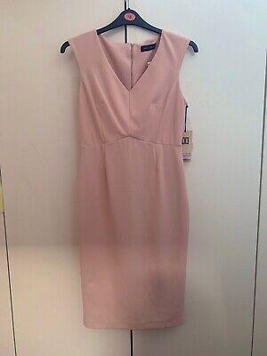 Rose Pink Form Fitting Ivanka Trump Dress Size Uk 12