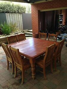 Large square pine table (TABLE ONLY) Drysdale Outer Geelong Preview
