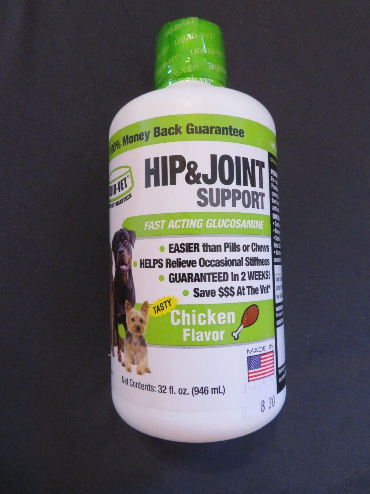 Liquid-Vet Hip Joint Support For Dogs Glucosamine Chicken Flavor 32 Oz 8 - $31.35