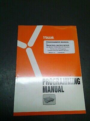 Mazak Operating Manual For Mazatrol Matrix Nexus Q-t Nexus Ii Series  Ms-299