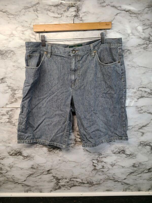 Polo Jeans Co Ralph Lauren Sz 14 Youth Jean Shorts Vintage Blue Pockets #9