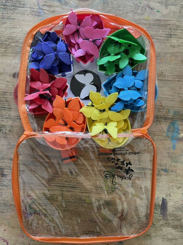 skoolzy rainbow butterfly garden  montessori math sorting counting activity