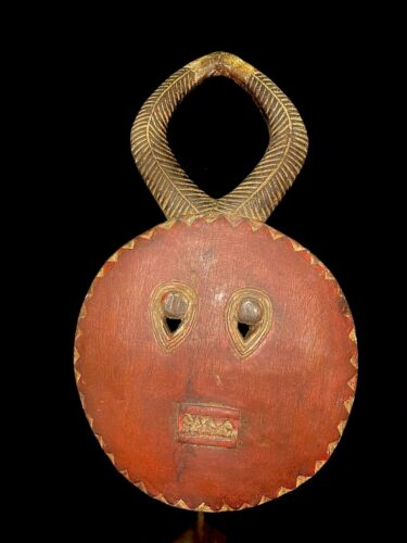 African Goli Horned Mask Akan Tribe Ivory Coast African Mask (2796 - H)