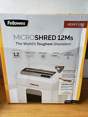 Fellowes 12ms Microshred 12-sheet Micro-cut Paper Shredder