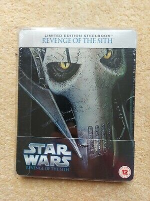 STAR WARS:REVENGE OF THE SITH UK EDITION STEELBOOK BLU RAY New & Sealed