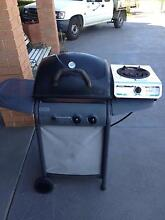 bbq/weber- gas-two burners-gas bottle-seperate burner-thermometer Bowral Area Preview