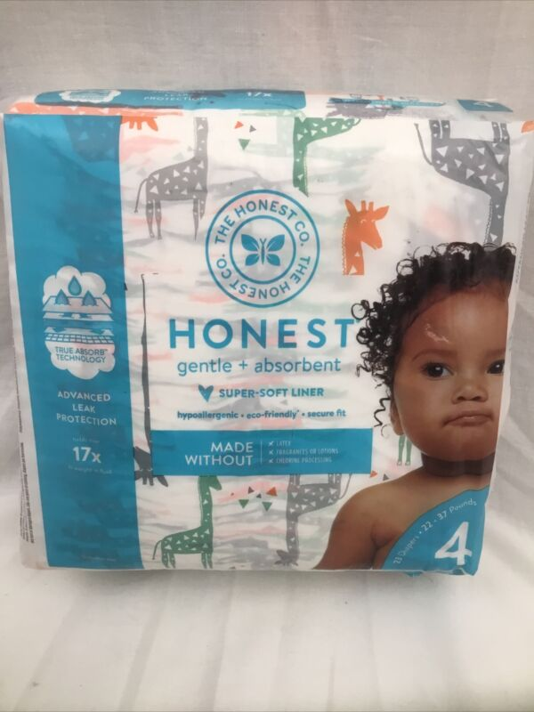 The Honest Company, Diapers Giraffe Size 4, 23 Count
