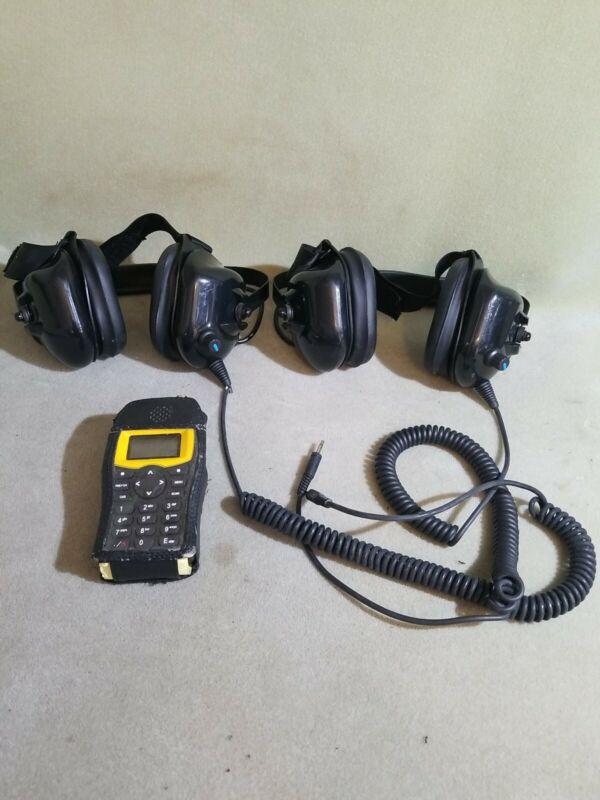 Track Scan Pocket Edge Rugged Race Scanner W/ 2 Headsets