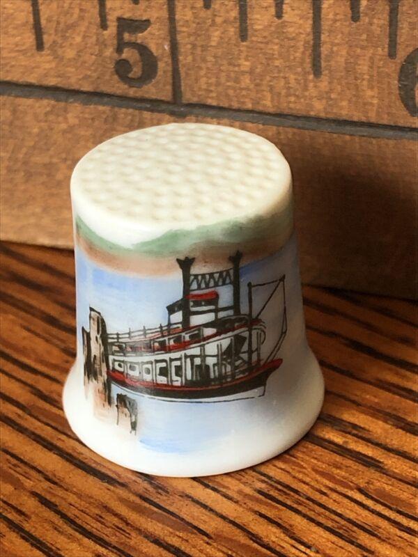 Thimble Mark Twain Steamship hand painted by Gail