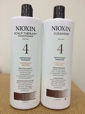 Nioxin System 4 Cleanser & Scalp Therapy for Fine Treated Hair Duo Set 33.8 o...