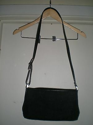 Liz Claiborne Designer Handbag Black Shoulder Strap with Buckle Design + Wallet