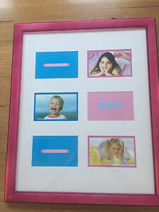 Pink Photo Frame (Holds 6 Photos) Grange Charles Sturt Area Preview