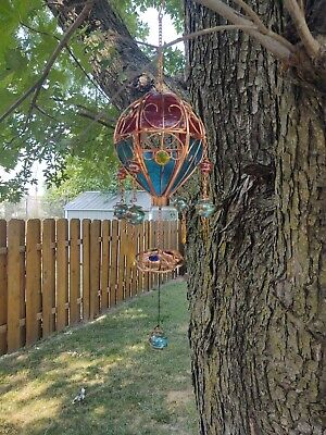 Antique Stained Glass Sun Catcher Art
