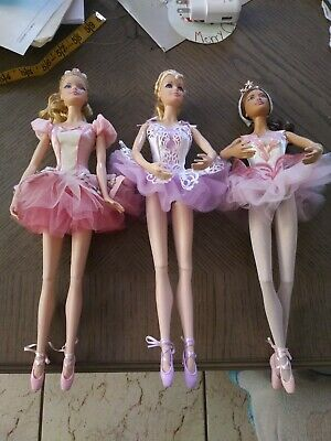 Set of Barbie Ballerina Wishes Dolls
