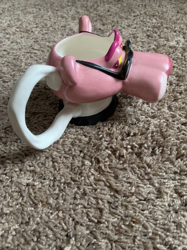 MINT Condition Vintage Pink Panther 3D Mug 1999