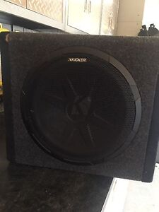 "12"" Kicker subwoofer with built in amp"