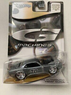 Hot Wheels G Machines '70 Plymouth Hemi Cuda - Silver - 1:50 scale
