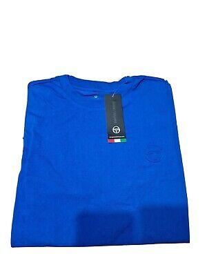 Sergio Tacchini Men's Slim FiT-shirt Signature Embroidery Logo Royal Blue Large