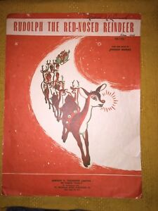Rudolf the red nosed reindeer sheet music
