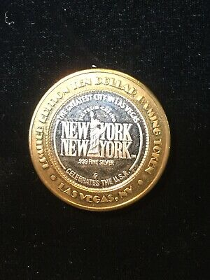 $10 Gaming Token Las Vegas- New York, New York  Listing Others For Auction!