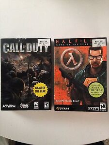 Original Half-Life and Call of Duty on PC